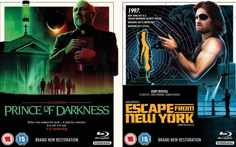 john carpenter films -prince of darkness + escape from new york