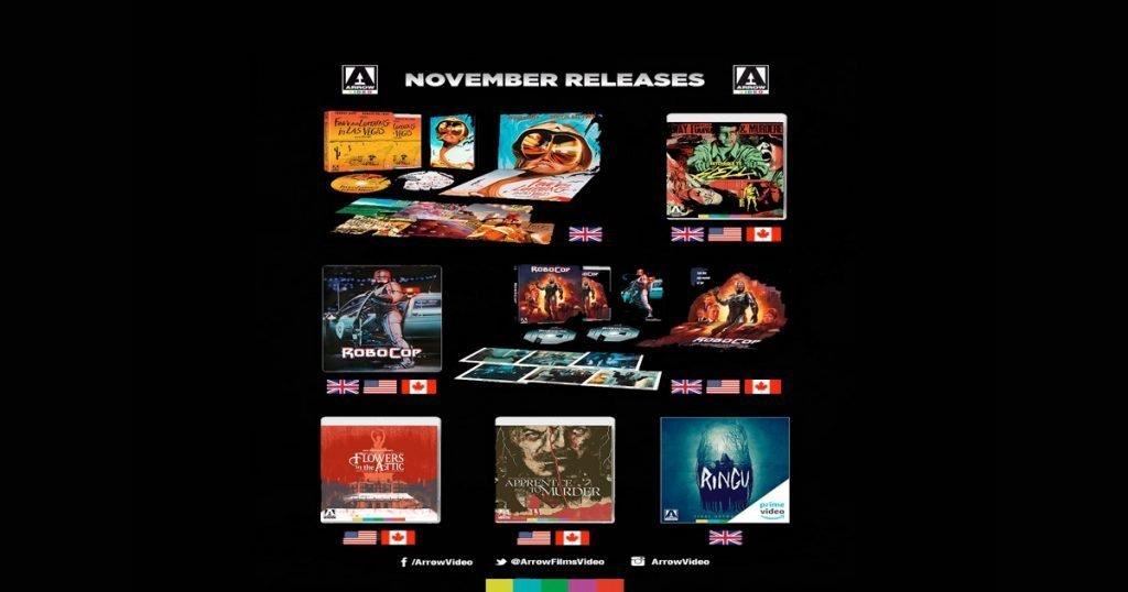 Arrow Video November 2019 Blu-ray